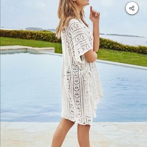 Cupshe sea-party crocheted swim cover-up